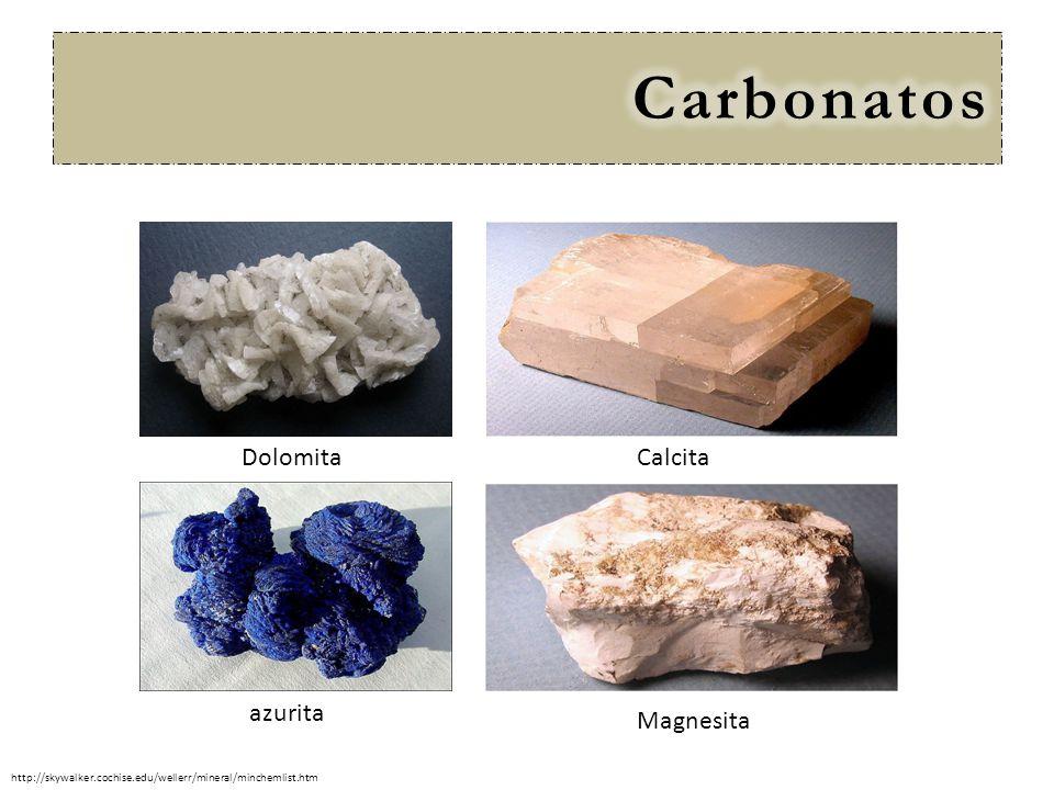 Carbonatos Dolomita Calcita azurita Magnesita