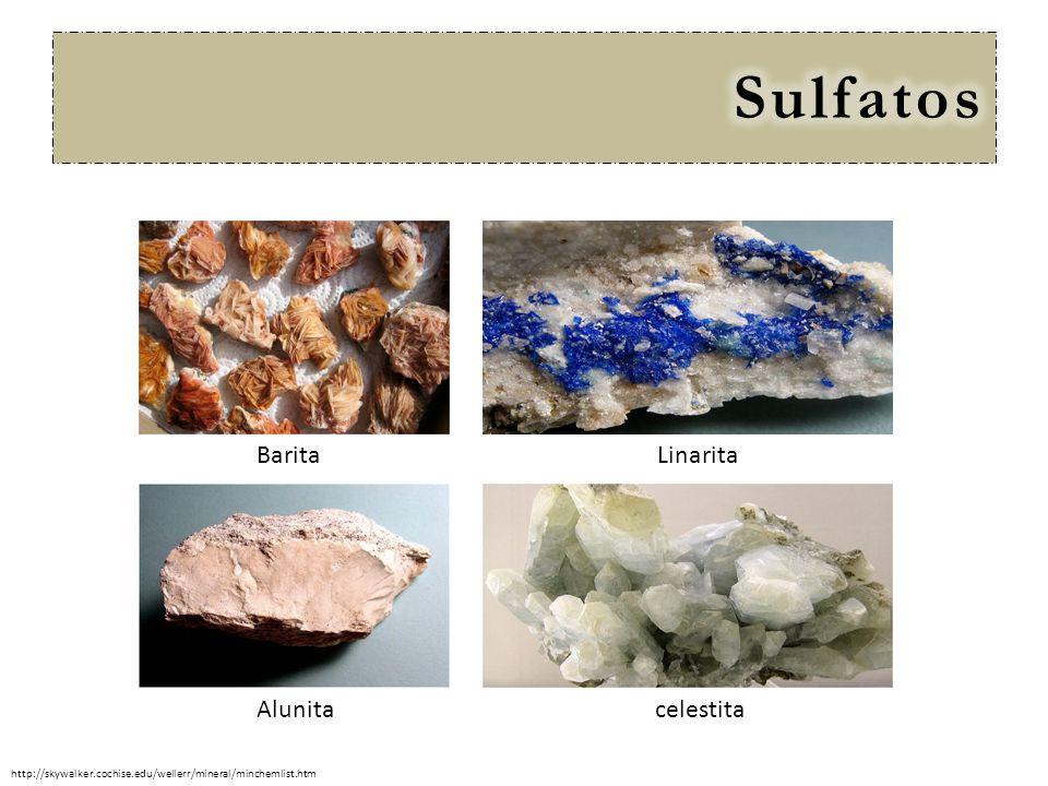 Sulfatos Barita Linarita Alunita celestita