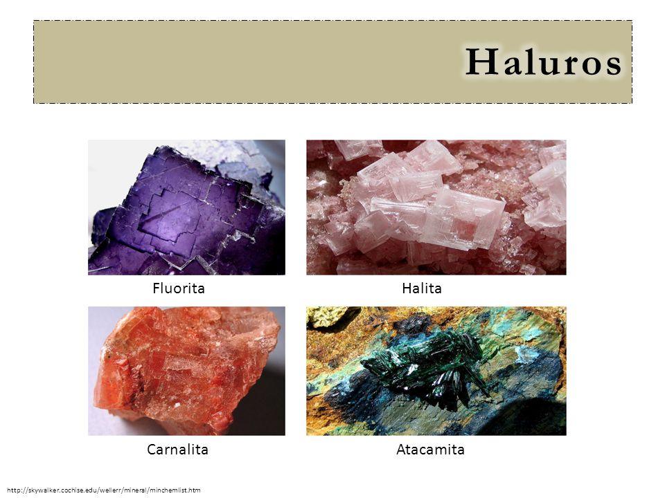Haluros Fluorita Halita Carnalita Atacamita