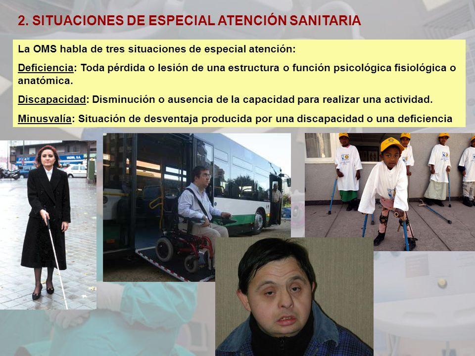 2. SITUACIONES DE ESPECIAL ATENCIÓN SANITARIA