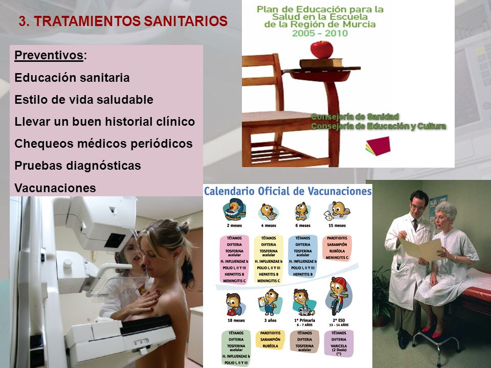3. TRATAMIENTOS SANITARIOS