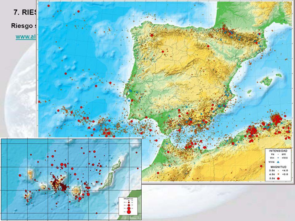7. RIESGO SÍSMICO Riesgo sísmico en España www.alertaterremotos.com/