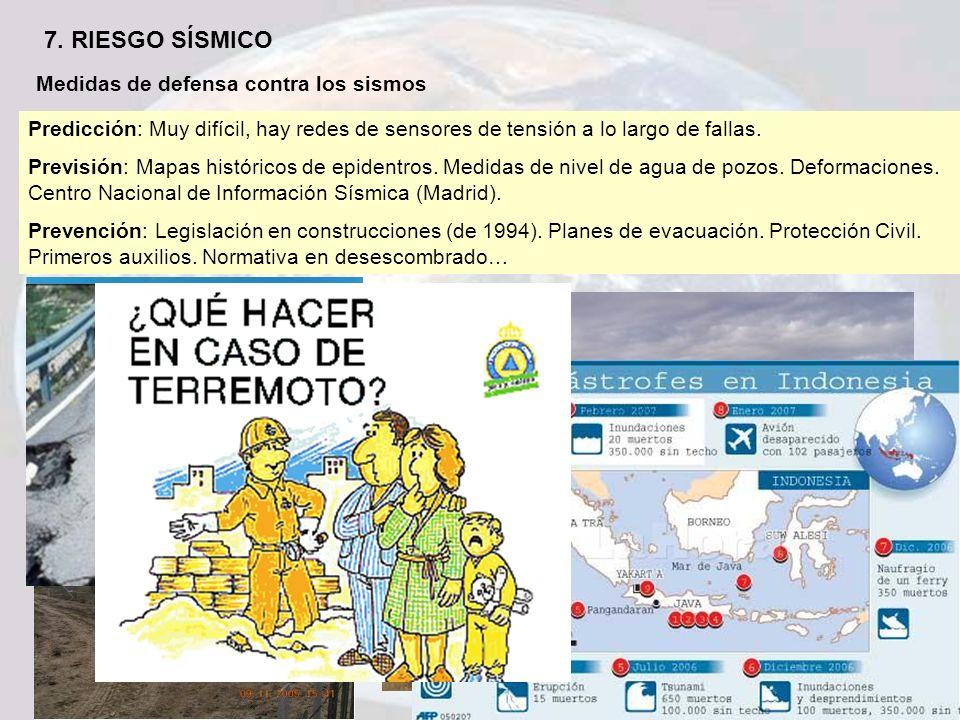 7. RIESGO SÍSMICO Medidas de defensa contra los sismos