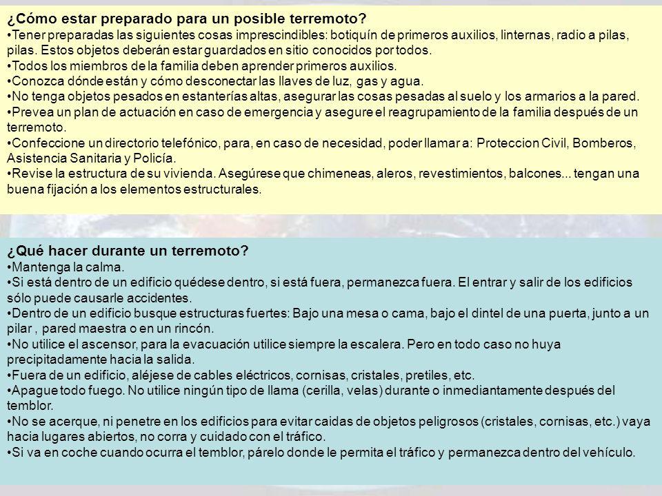 ¿Cómo estar preparado para un posible terremoto