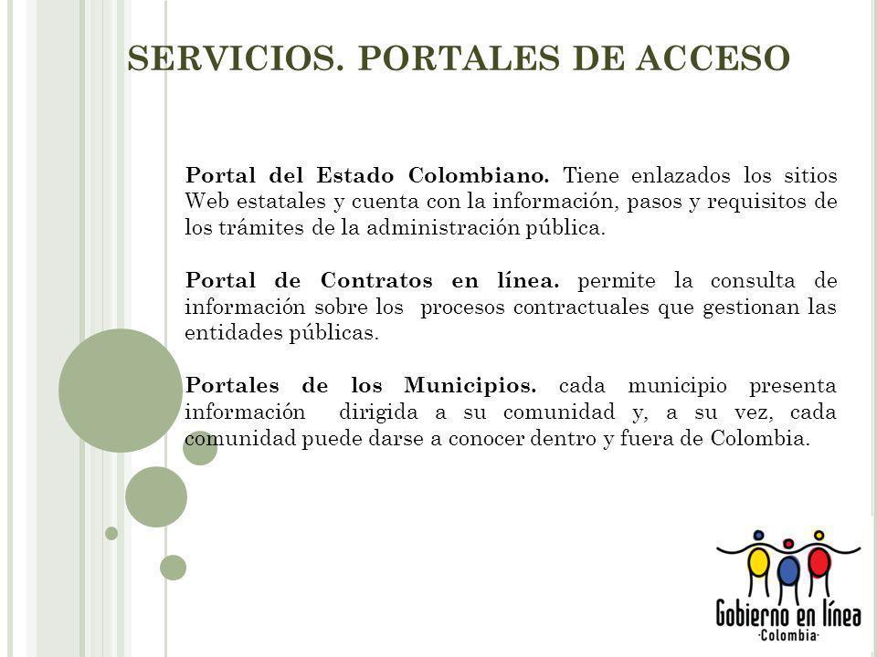 SERVICIOS. PORTALES DE ACCESO