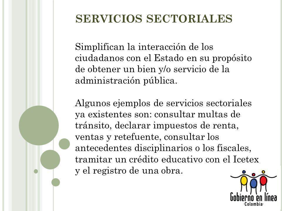 SERVICIOS SECTORIALES