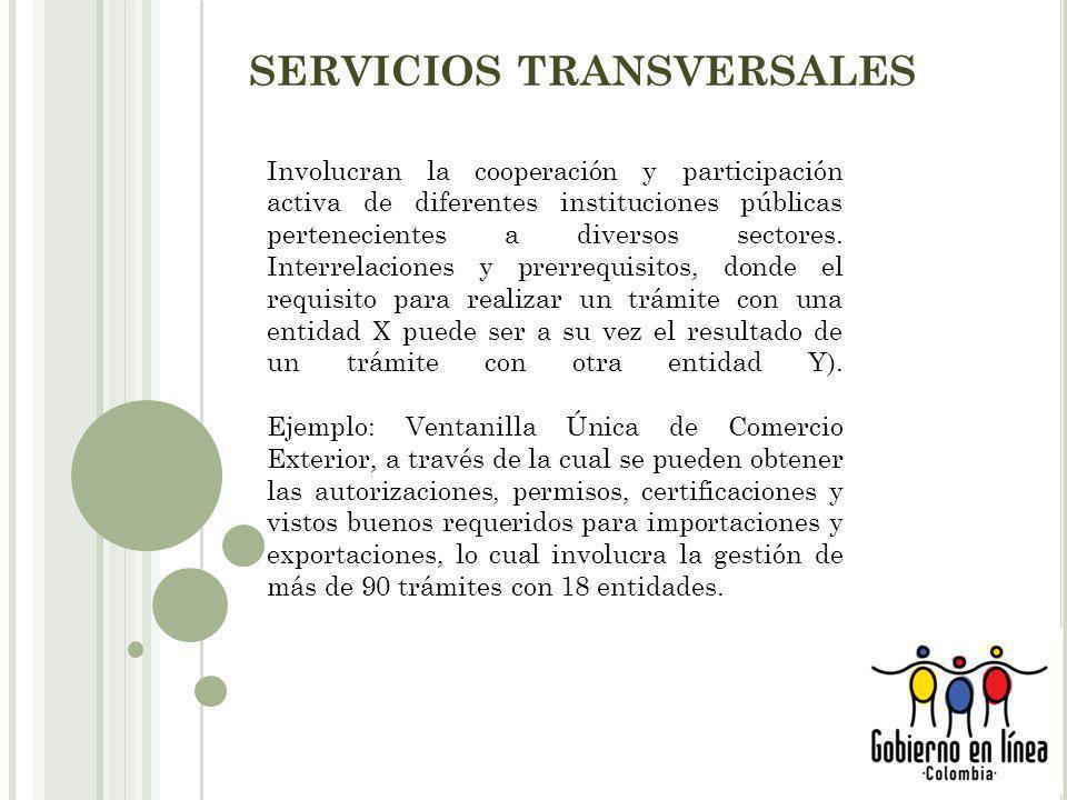 SERVICIOS TRANSVERSALES