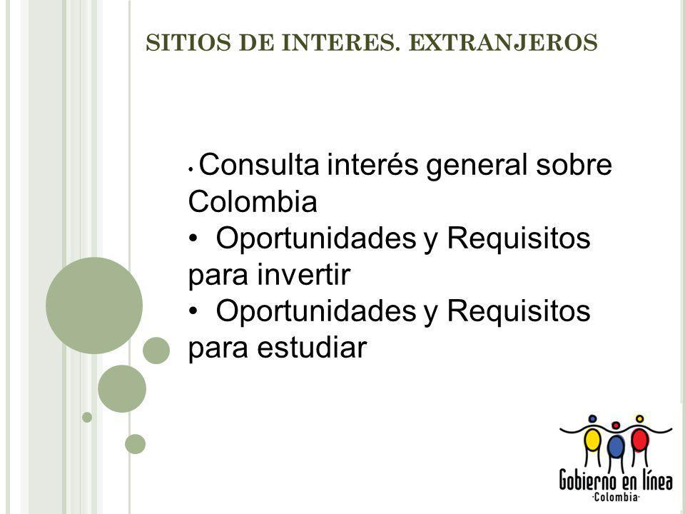 SITIOS DE INTERES. EXTRANJEROS