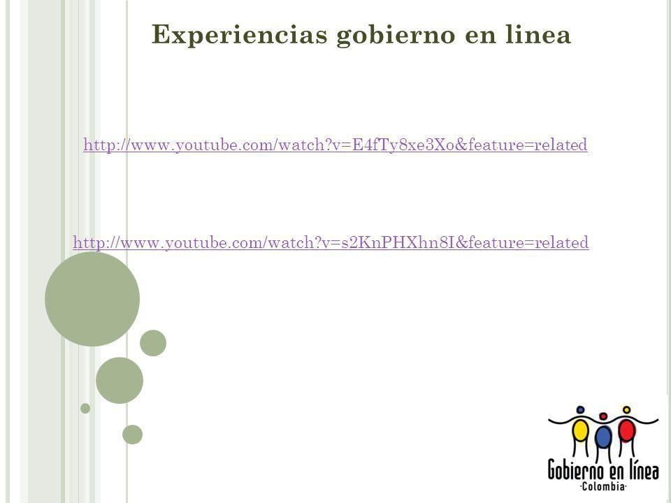 Experiencias gobierno en linea