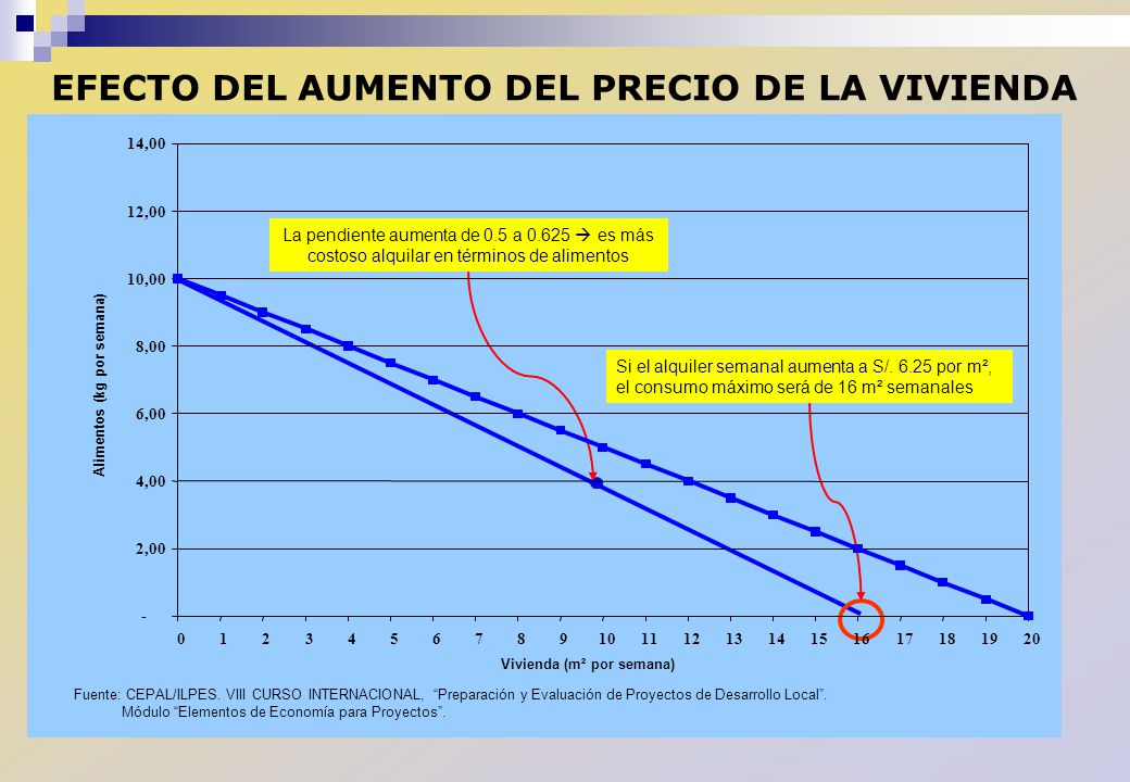 EFECTO DEL AUMENTO DEL PRECIO DE LA VIVIENDA