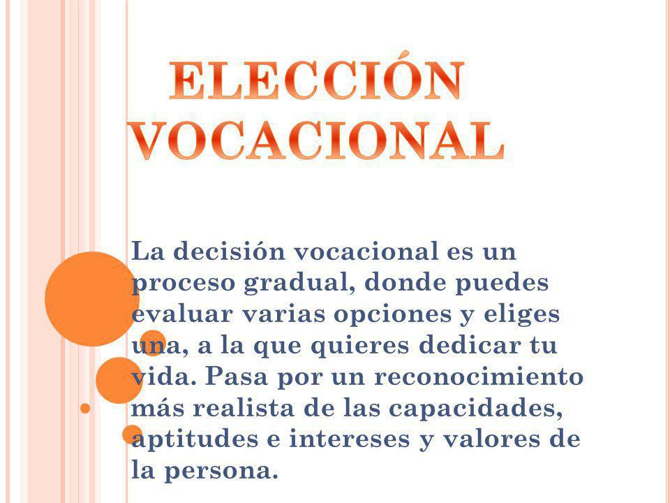 ELECCIÓN VOCACIONAL