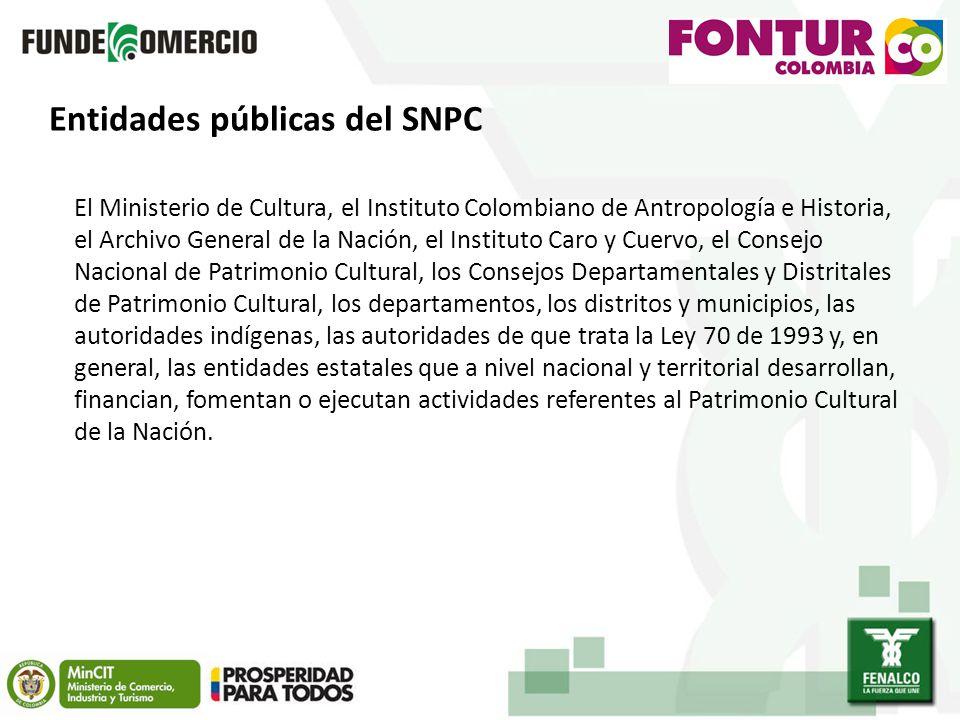 Entidades públicas del SNPC