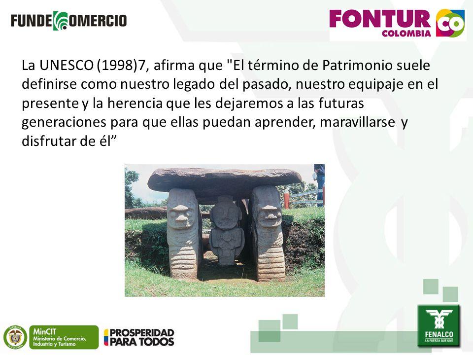 La UNESCO (1998)7, afirma que El término de Patrimonio suele definirse como nuestro legado del pasado, nuestro equipaje en el presente y la herencia que les dejaremos a las futuras generaciones para que ellas puedan aprender, maravillarse y disfrutar de él