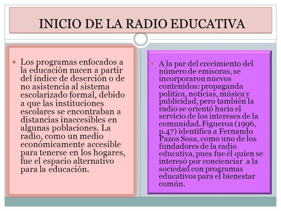 INICIO DE LA RADIO EDUCATIVA