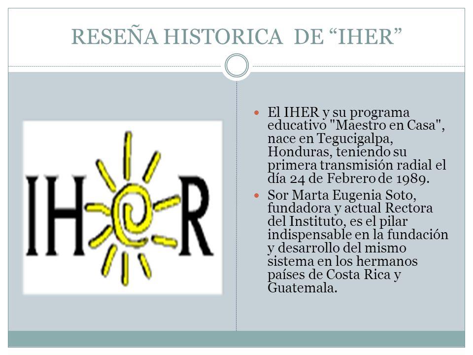 RESEÑA HISTORICA DE IHER