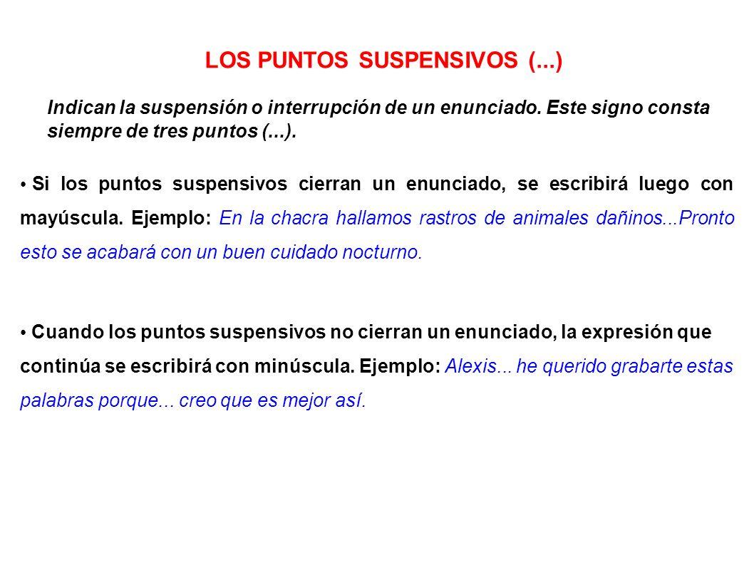 LOS PUNTOS SUSPENSIVOS (...)