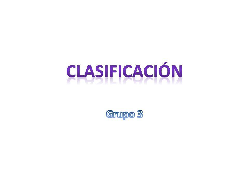 Clasificación Grupo 3