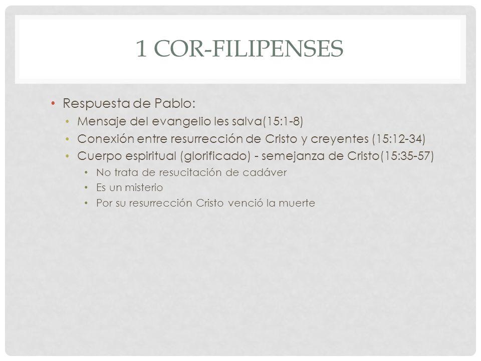 1 Cor-Filipenses Respuesta de Pablo: