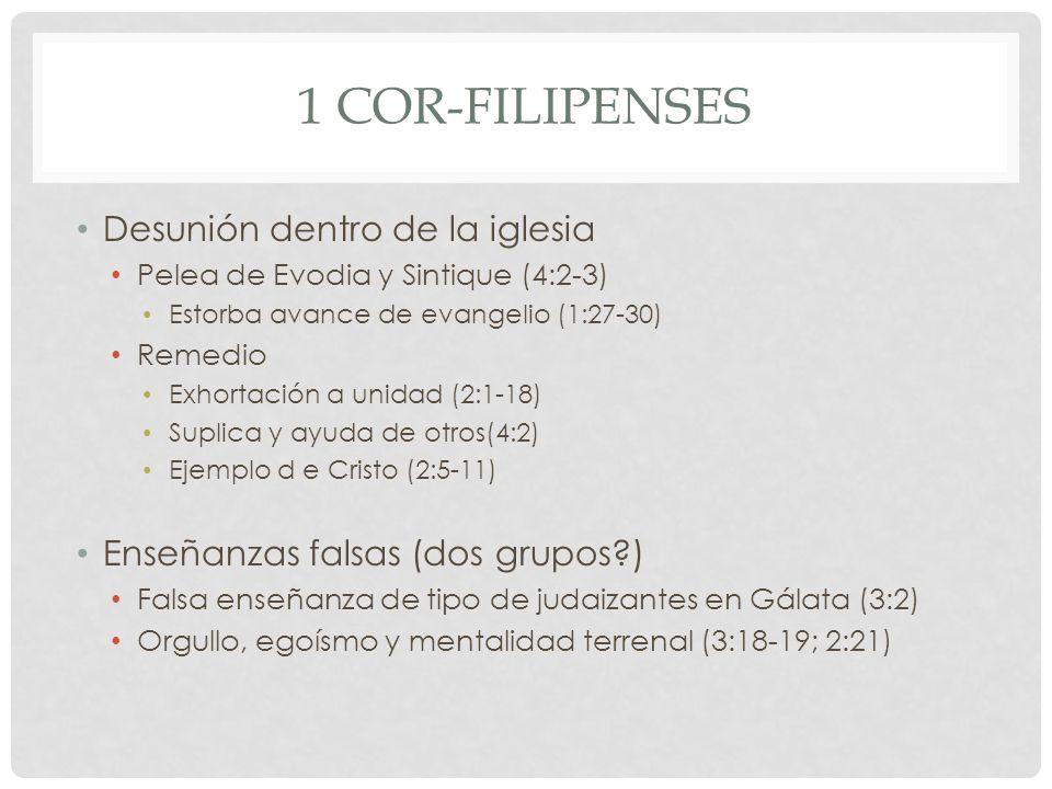 1 Cor-Filipenses Desunión dentro de la iglesia