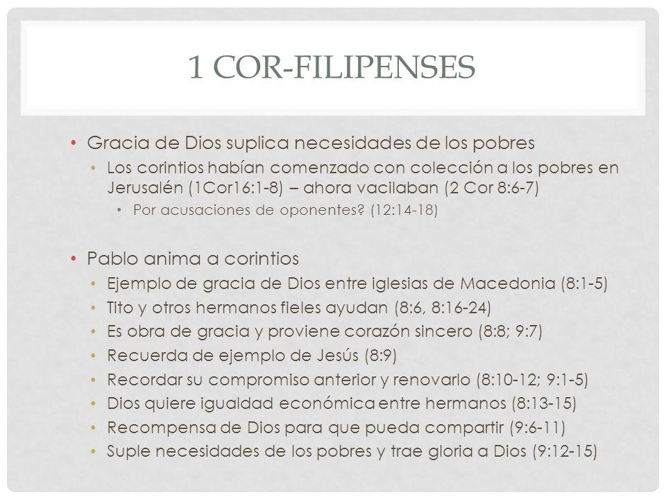 1 Cor-Filipenses Gracia de Dios suplica necesidades de los pobres