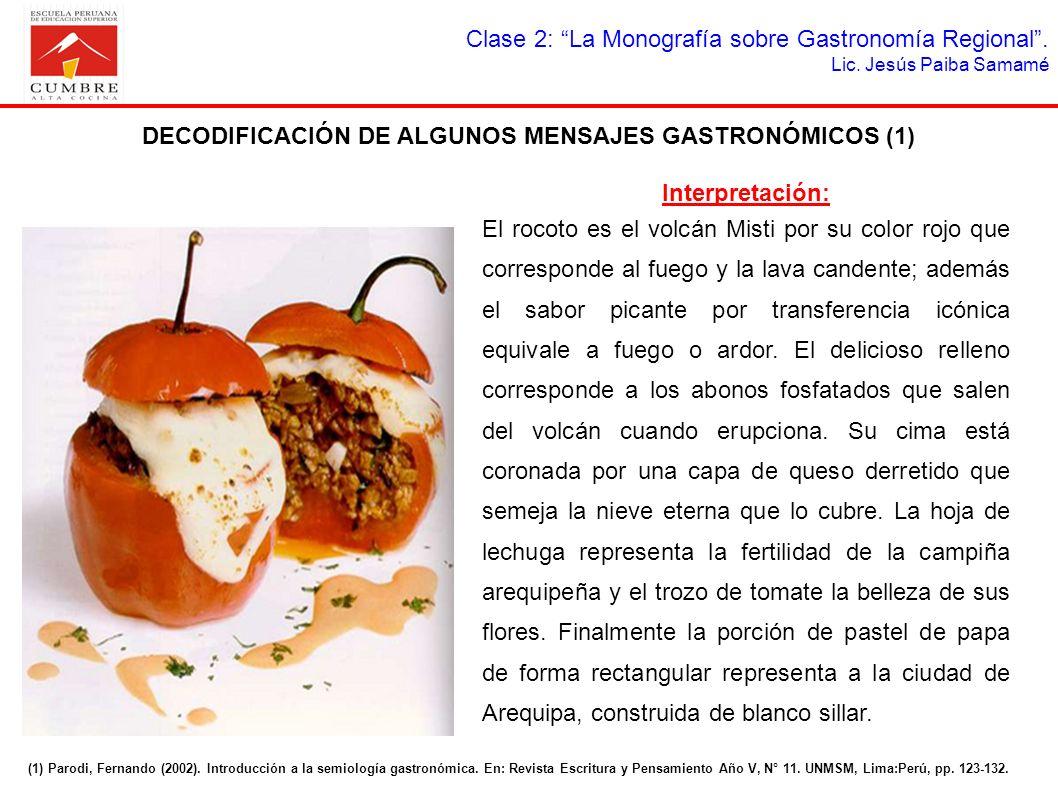 DECODIFICACIÓN DE ALGUNOS MENSAJES GASTRONÓMICOS (1)