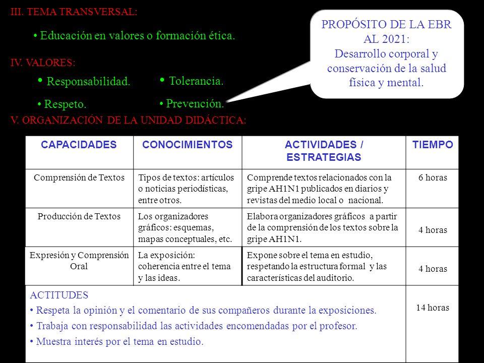 ACTIVIDADES / ESTRATEGIAS