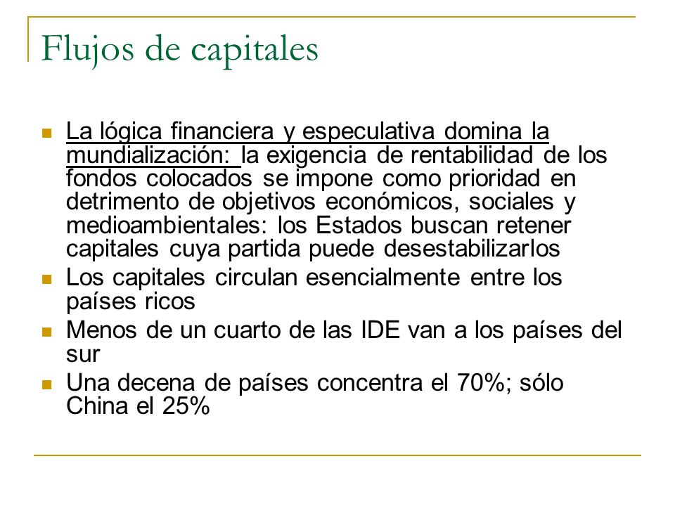 Flujos de capitales