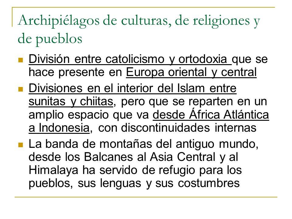 Archipiélagos de culturas, de religiones y de pueblos