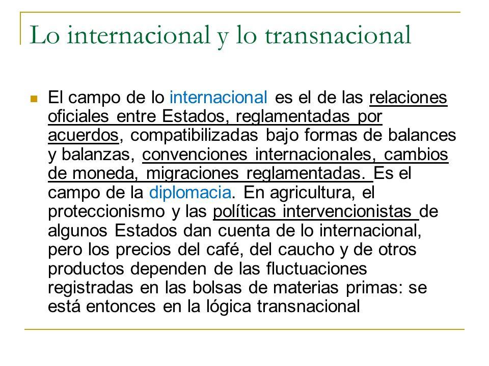 Lo internacional y lo transnacional