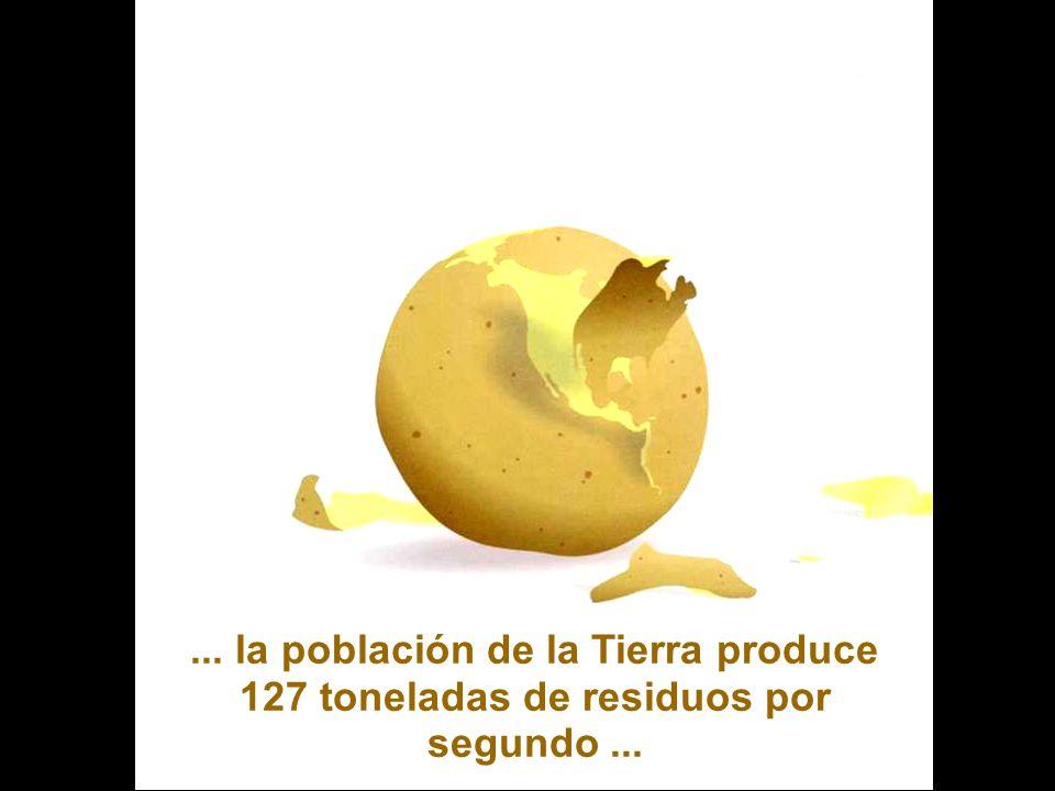 ... la población de la Tierra produce 127 toneladas de residuos por segundo ...