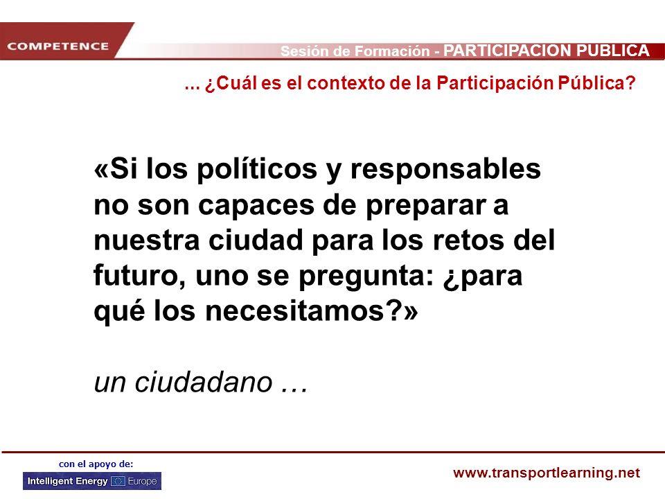 ... ¿Cuál es el contexto de la Participación Pública