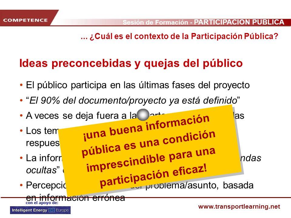 Ideas preconcebidas y quejas del público