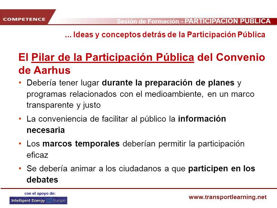 El Pilar de la Participación Pública del Convenio de Aarhus