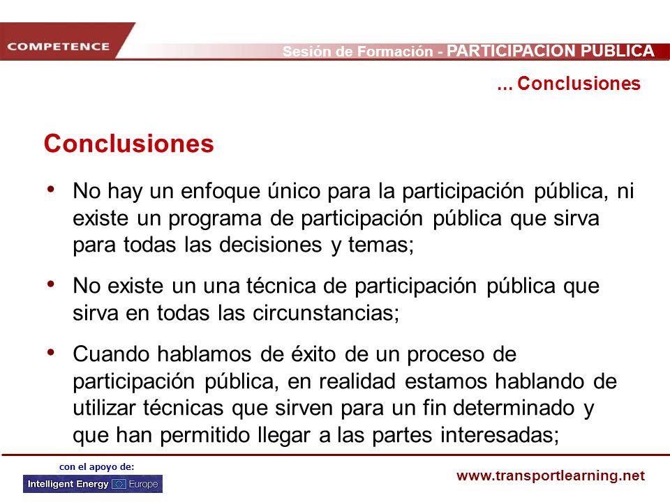 ... Conclusiones Conclusiones.