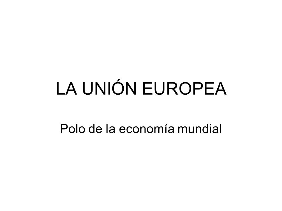 Polo de la economía mundial