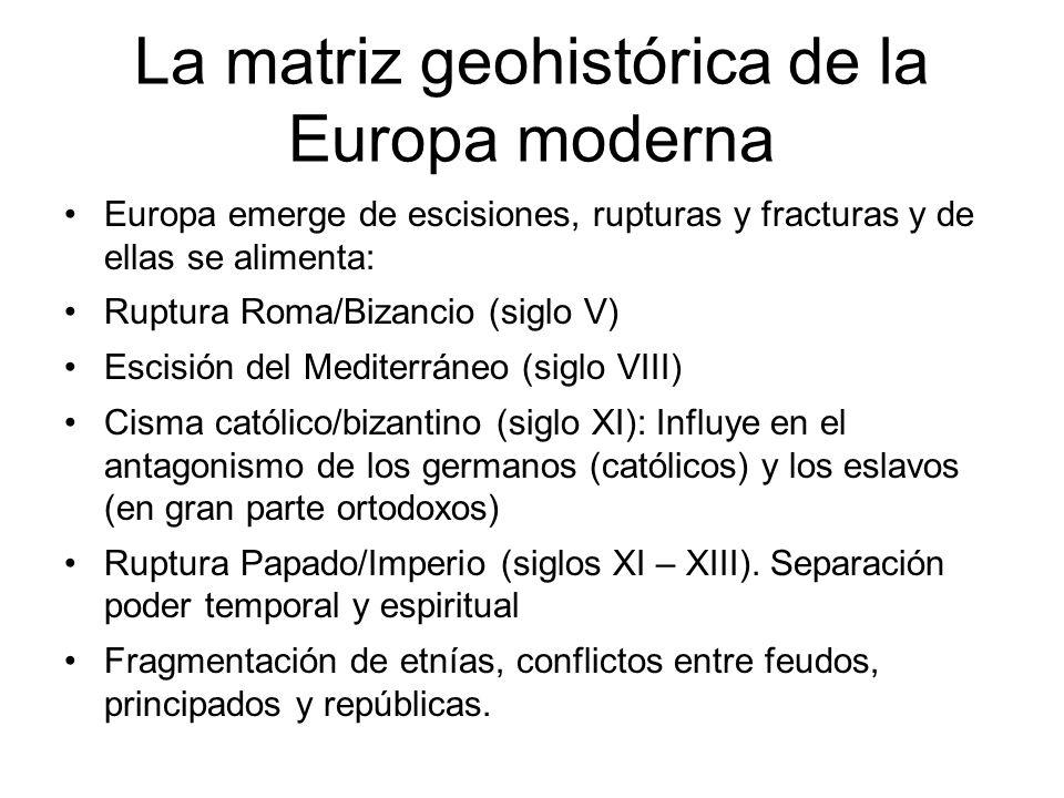 La matriz geohistórica de la Europa moderna
