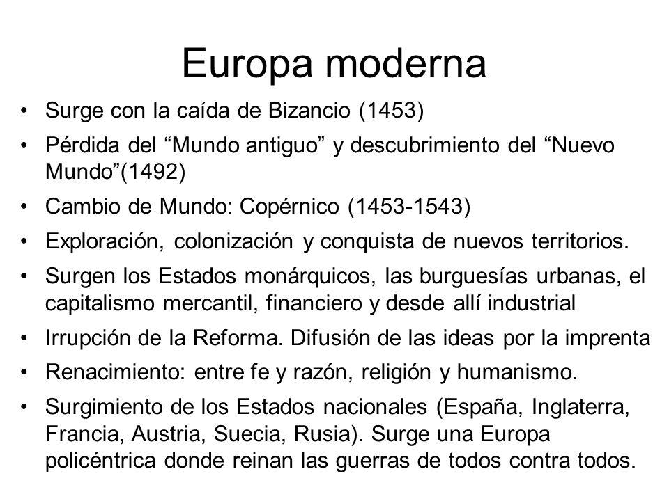 Europa moderna Surge con la caída de Bizancio (1453)