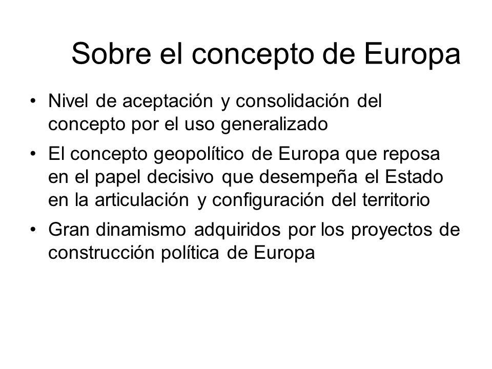 Sobre el concepto de Europa