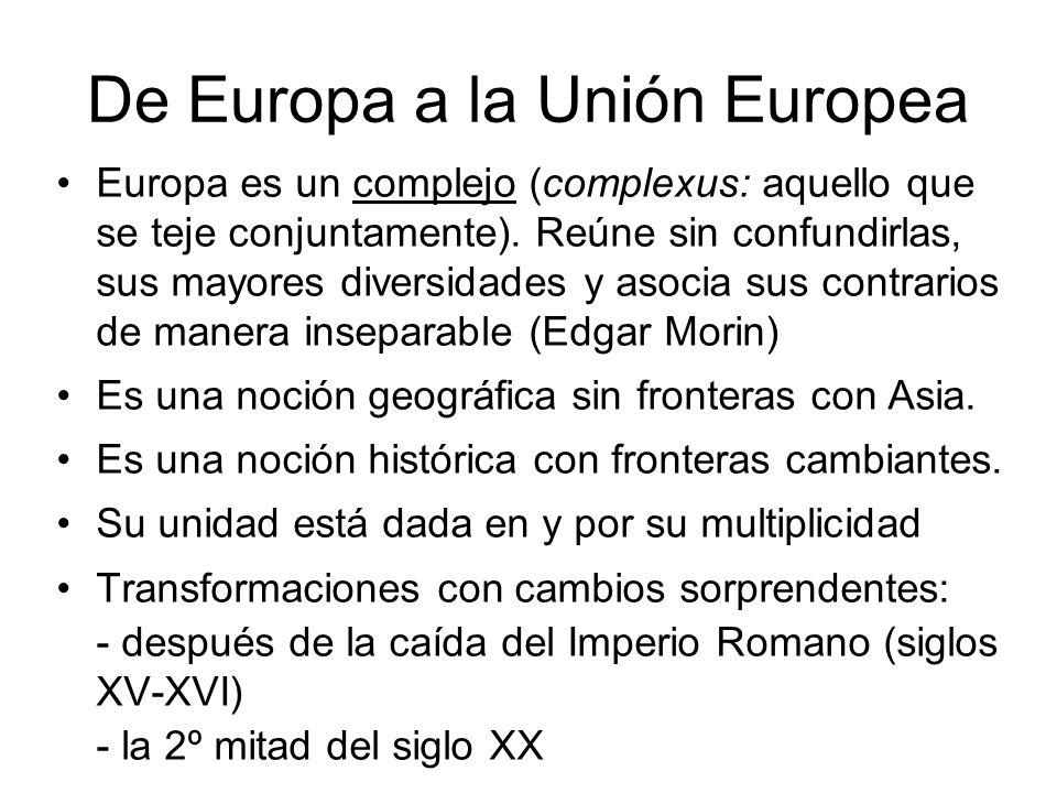 De Europa a la Unión Europea