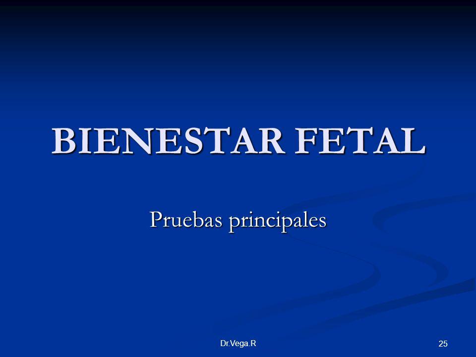 BIENESTAR FETAL Pruebas principales Dr.Vega.R