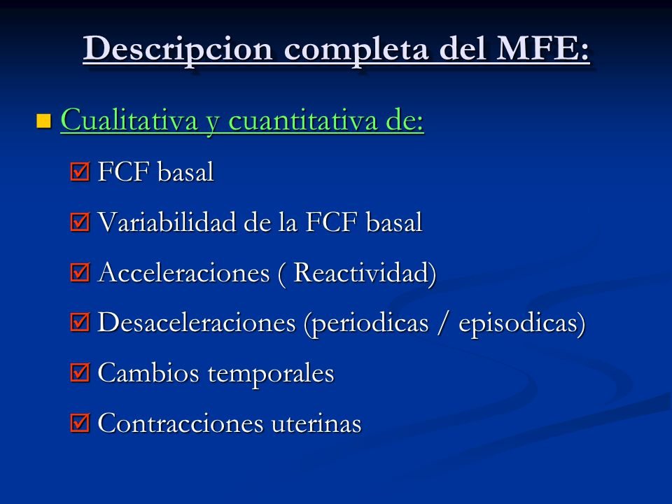 Descripcion completa del MFE: