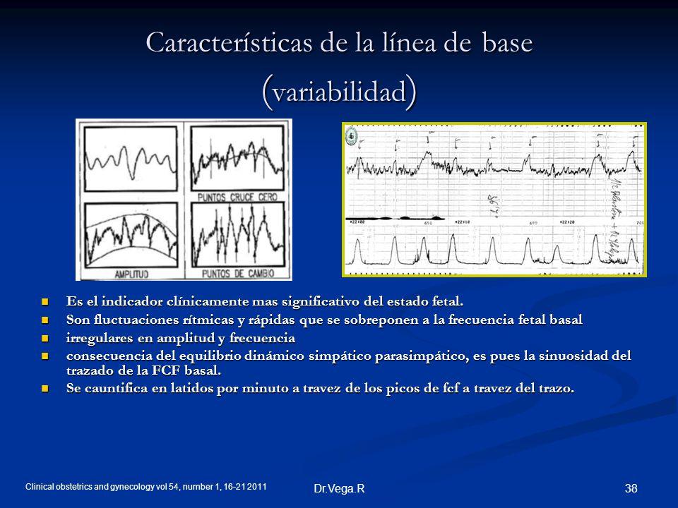 Características de la línea de base (variabilidad)