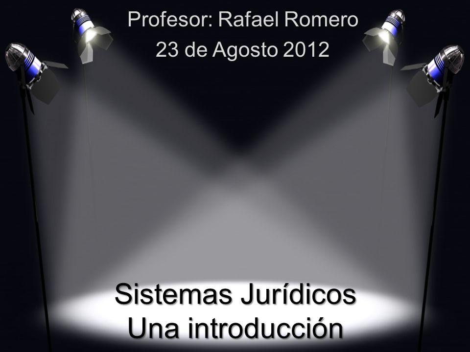 Sistemas Jurídicos Una introducción