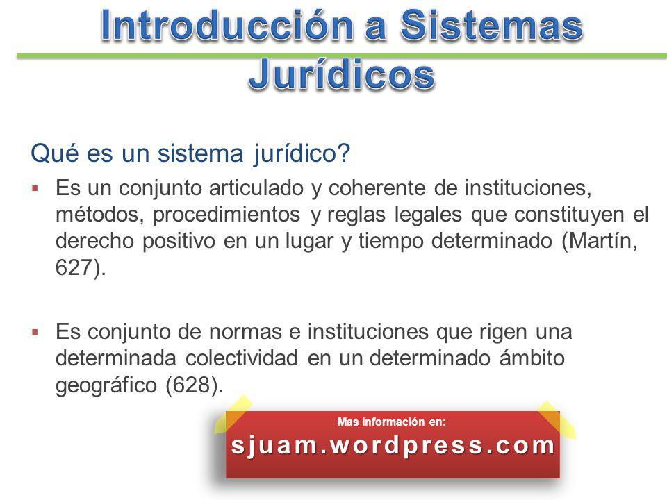 Introducción a Sistemas Jurídicos