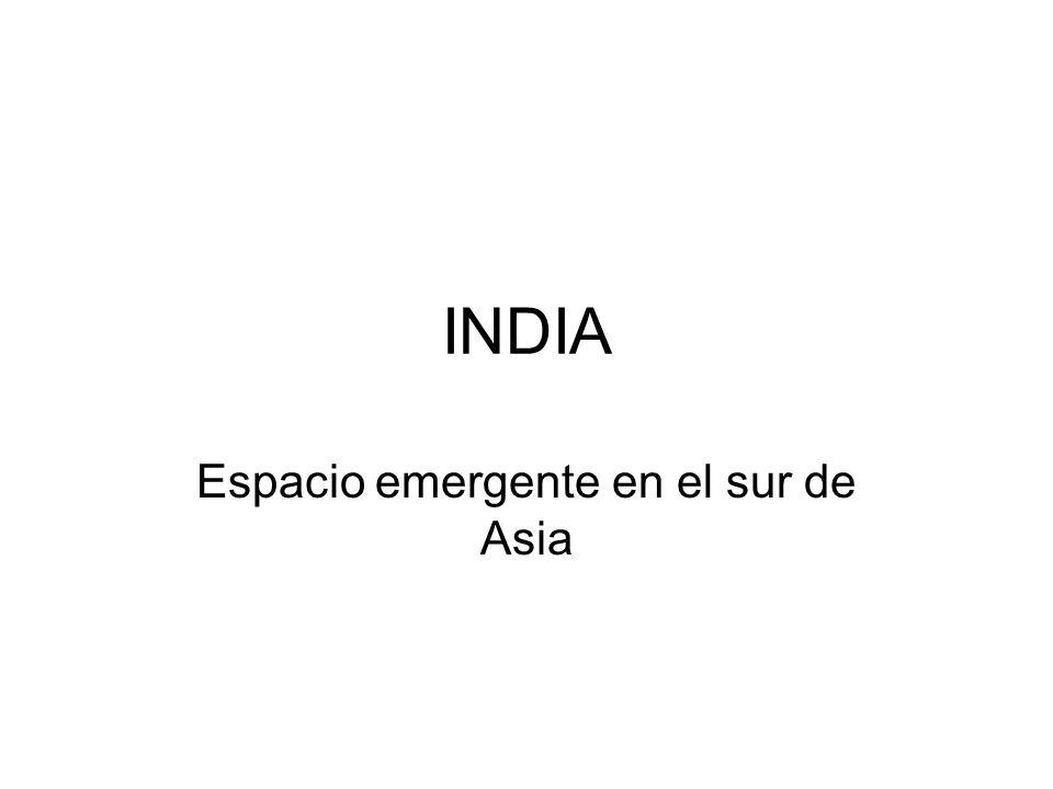 Espacio emergente en el sur de Asia
