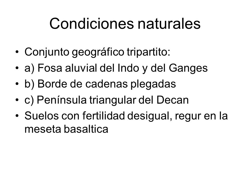 Condiciones naturales