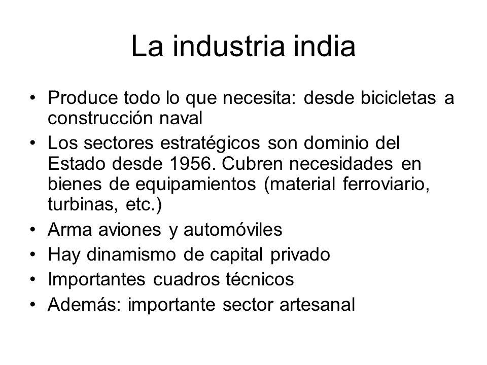 La industria india Produce todo lo que necesita: desde bicicletas a construcción naval.