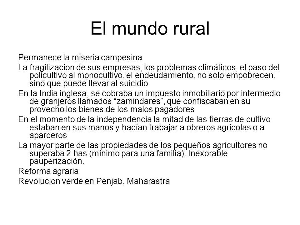 El mundo rural Permanece la miseria campesina