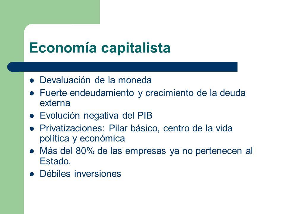Economía capitalista Devaluación de la moneda