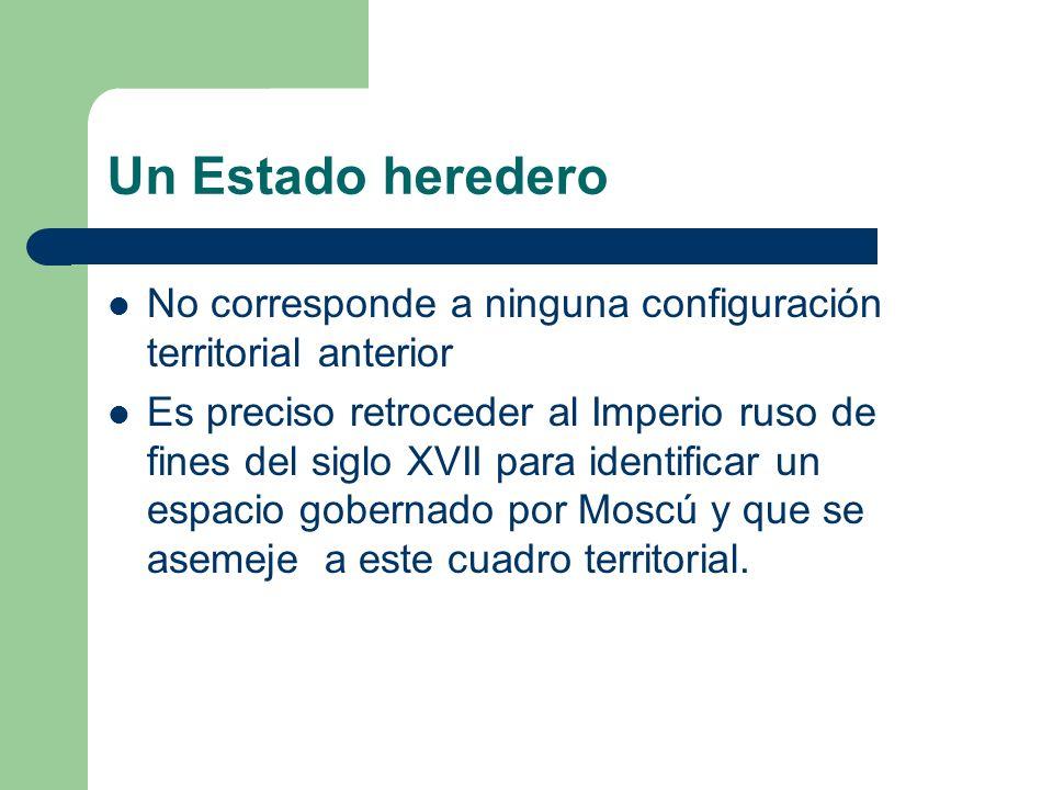 Un Estado heredero No corresponde a ninguna configuración territorial anterior.